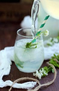 Healthy Sweet Woodruff Lemonade Recipe: Refreshing, flavorful and fragrant summer drink made with sweet woodruff, lemon, honey and water.