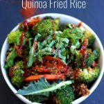 Simple Vegan Quinoa Fried Rice Another Collage with Text Overlay