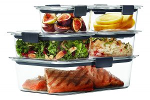 Rubbermaid Brilliance Food Storage Plastic Container Set