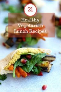 Vegan Pita Pockets with Roasted Veggies Pinterest Pin