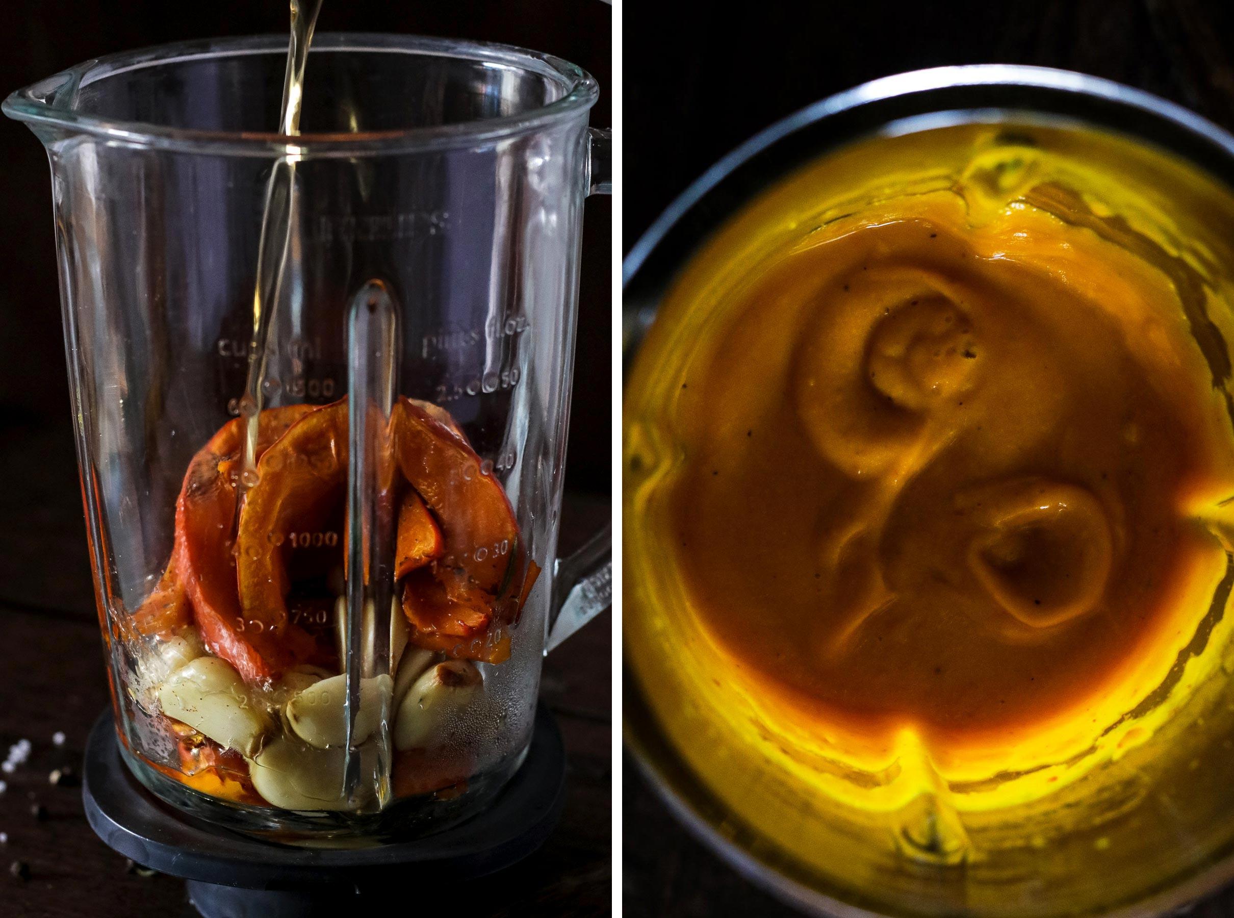 Pumpkin Sauce for Pasta in a Blender.