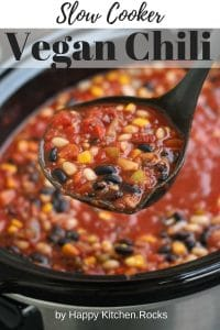 Slow Cooker Vegan Chili Pinterest