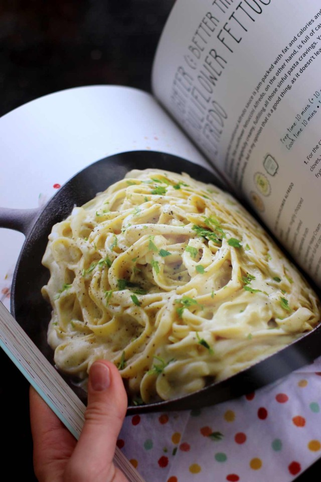 The Creamiest Vegan Fettuccine Alfredo - Fuss-Free Vegan Cookbook - Flipping the Pages with Recipes