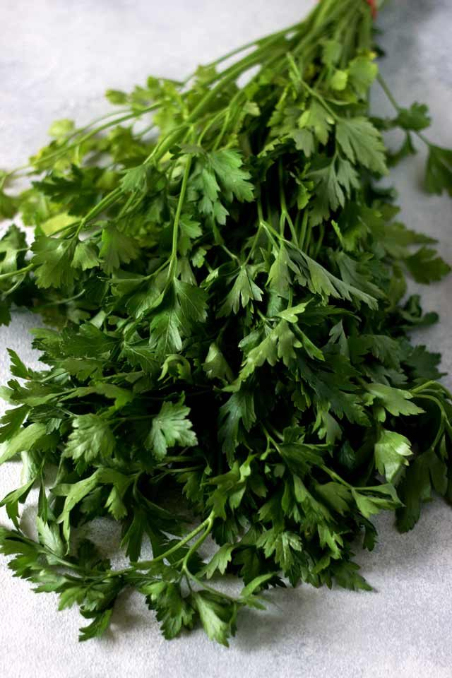 Bundle of Parsley on the Table