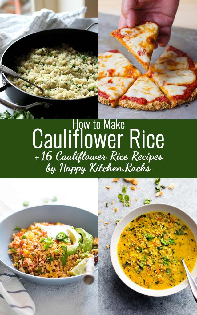 Cauliflower Rice Pinterest Collage