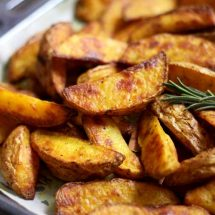 Easy Baked Potato Wedges in a Tray Cooked and Ready