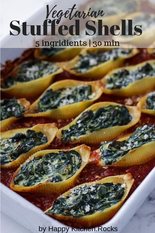 Ricotta and Spinach Pasta Casserole with Marinara Sauce Pinterest Collage