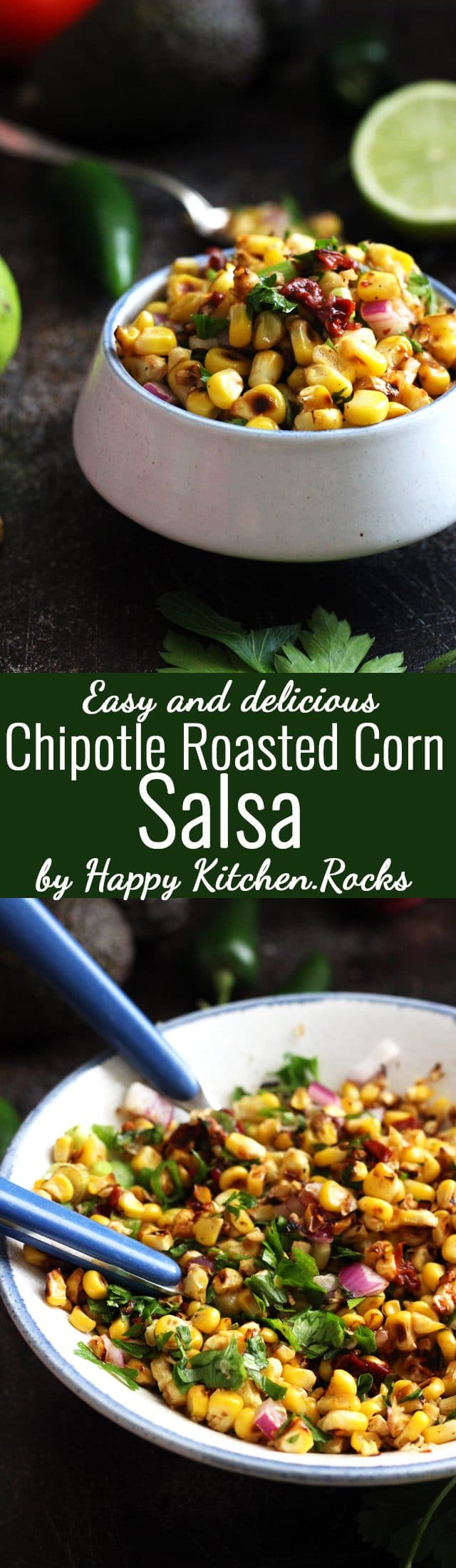Chipotle Corn Salsa Pinterest Collage Long Pin