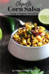 Corn Salsa with Chipotles in a Ramekin Pinterest Collage