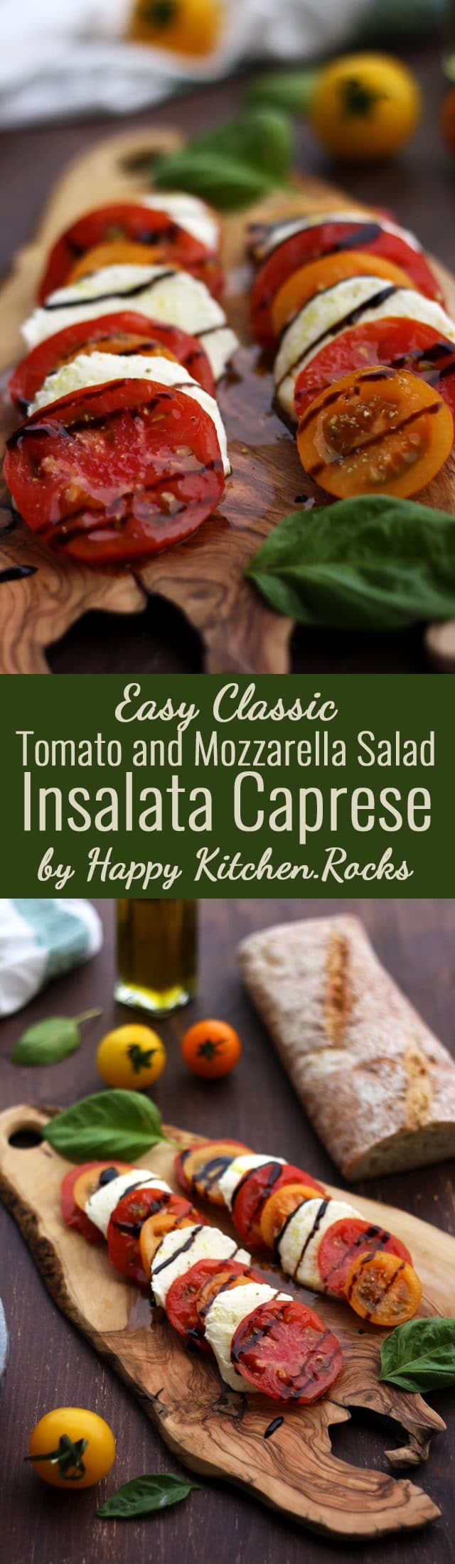 Classic Insalata Caprese (Tomato Mozzarella Salad) is the perfect quick appetizer or salad packed with summer flavors! Light, refreshing and so easy to make! A great way to enjoy in-season tomatoes at the fullest. #saladrecipes #recipe #summerveggies #healthyrecipes #Mediterraneanfood #salad #summersalad #tomatoes #caprese #tomatorecipe #mozzarella #tomatosalad #saladrecipe #summerrecipe