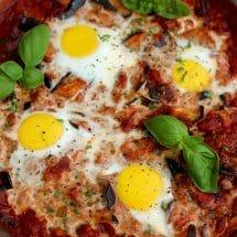 The Best Shakshuka Recipe - Mouthwatering Pan Closeup