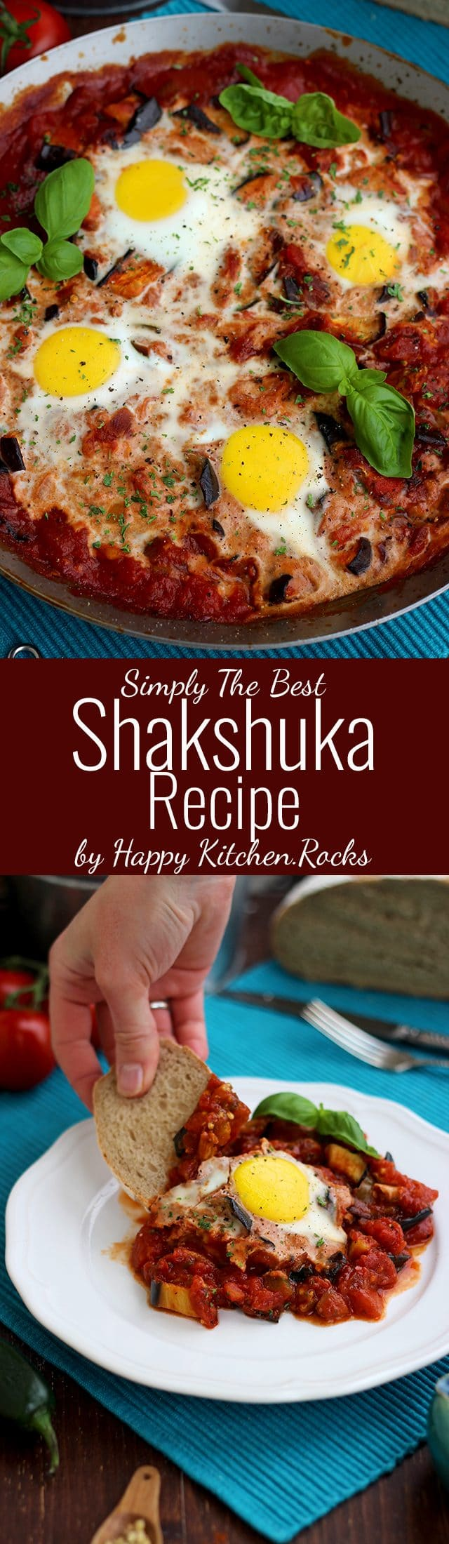 The Best Shakshuka Recipe Super Long Collage with Text Overlay