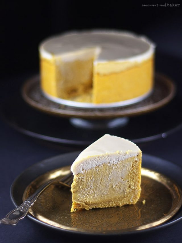 Pumpkin Cheesecake {Free From: gluten ; grains, dairy, eggs, and refined sugars}