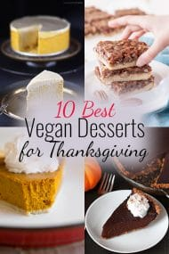 10 Best Vegan Desserts for Thanksgiving