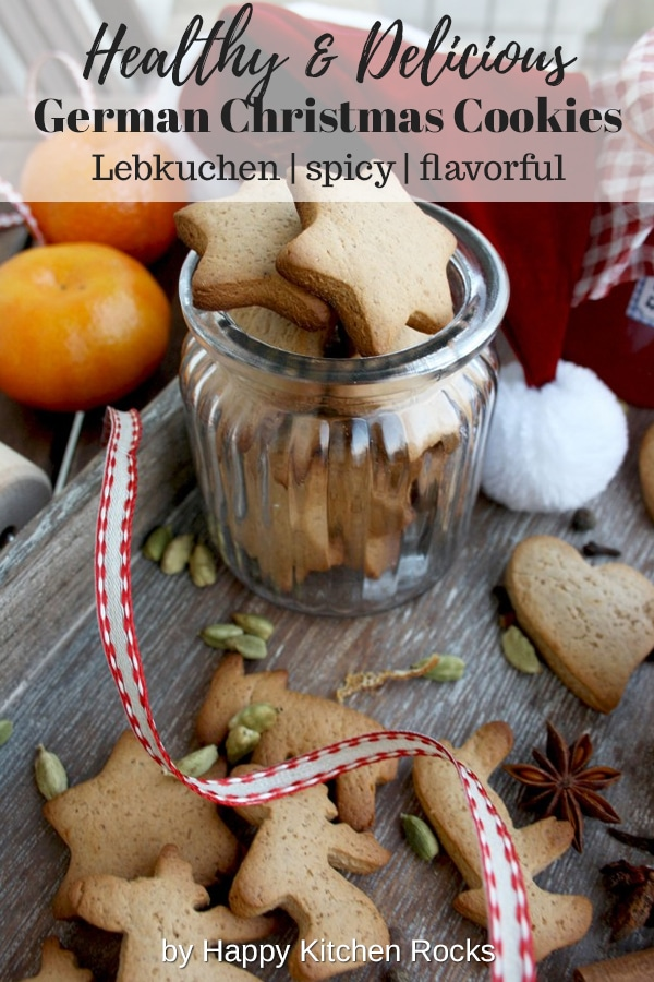 German Christmas Cookies - Lebkuchen - Perfect Gift Collage with Text Overlay