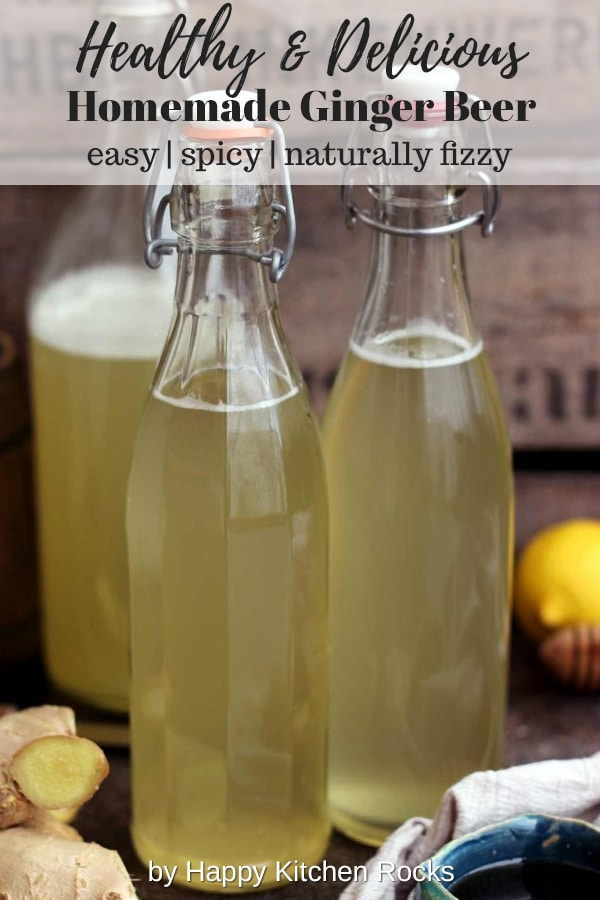 Homemade Ginger Beer in Bottles
