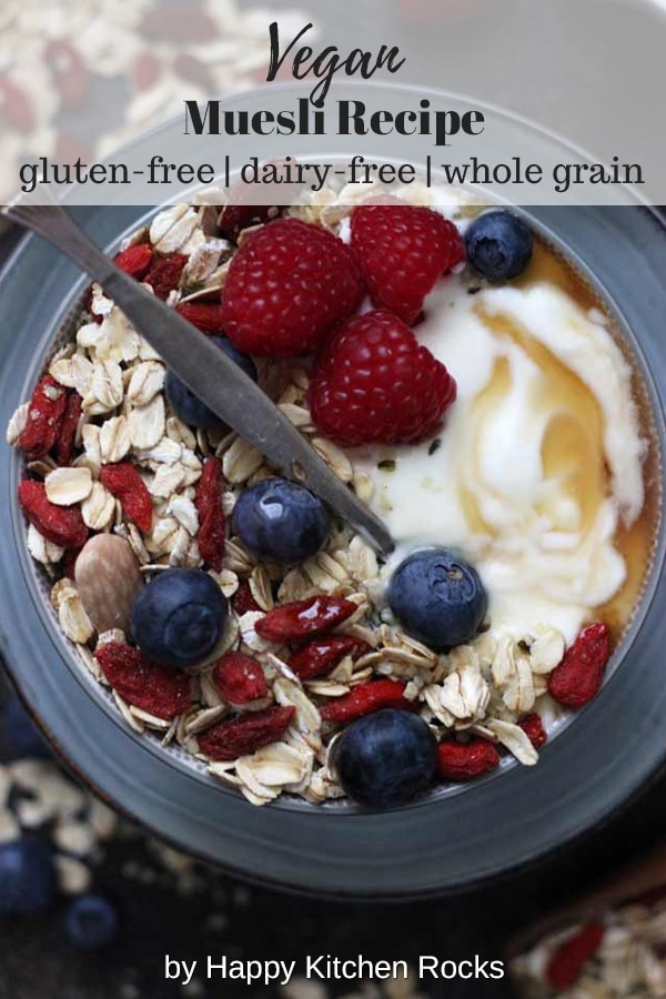 Muesli Recipe: A Healthy and Delicious Breakfast Idea Collage with Text Overlay