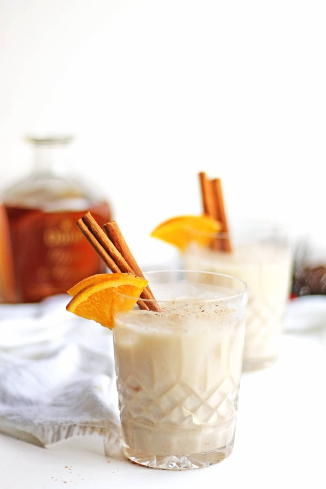 Spiced orange vegan coquito