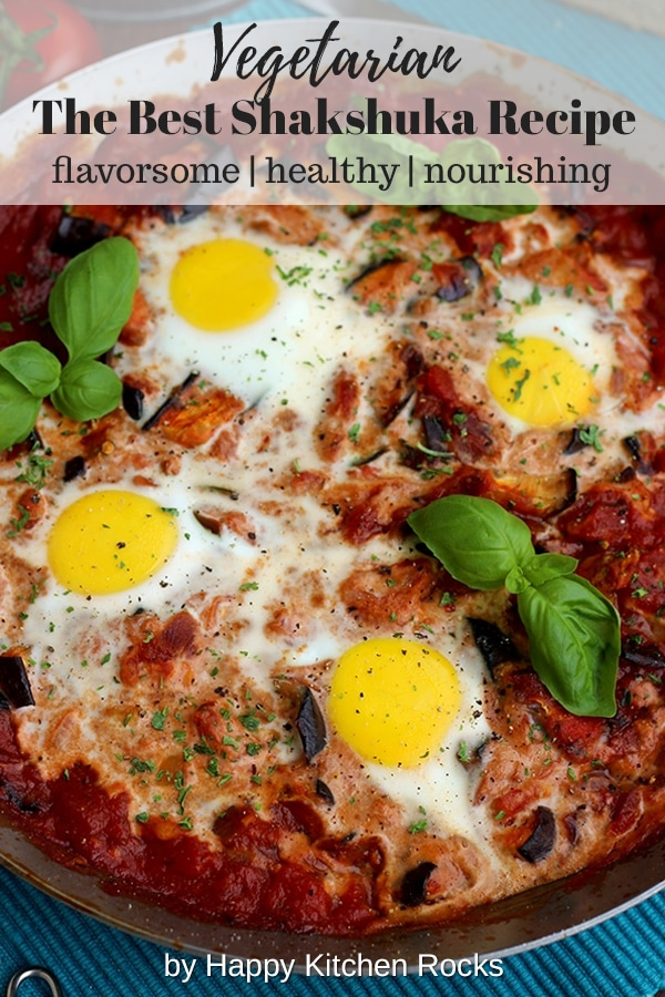 The Best Shakshuka Recipe Collage with Text Overlay