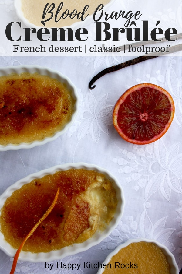 Blood Orange Crème Brûlée Collage with Text Overlay.