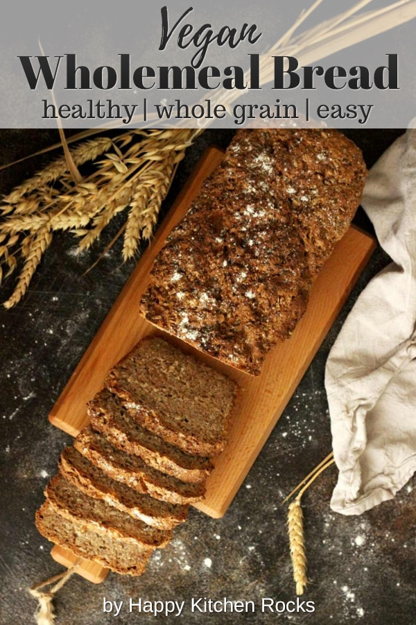 Healthy Wholemeal Bread Collage with Text Overlay