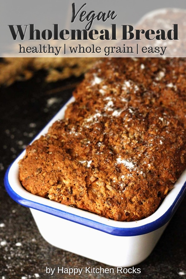 Healthy Wholemeal Bread Overhead Collage with Text Overlay