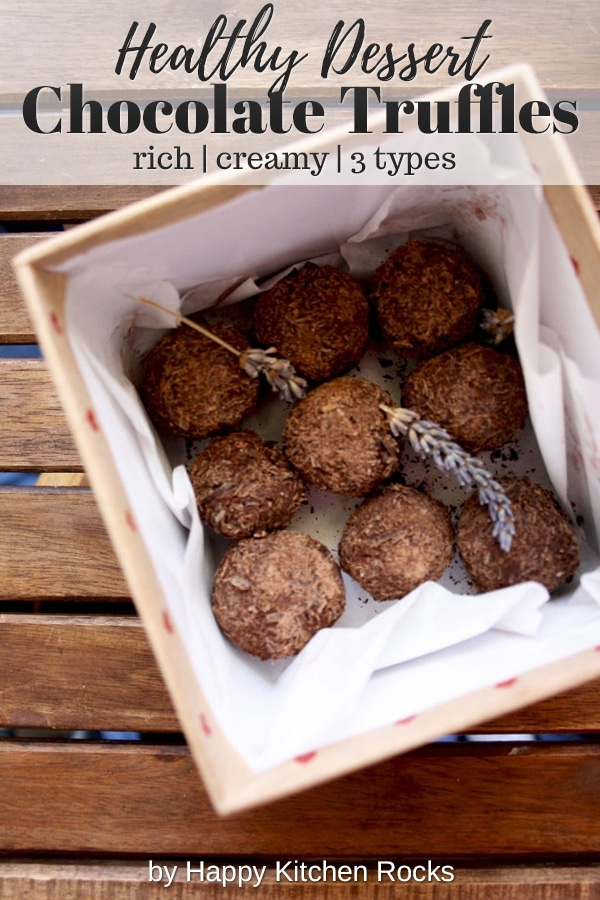 Three Chocolate Truffles Recipes - Second Collage with Text Overlay