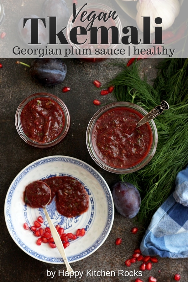Tkemali Georgian Plum Sauce Collage with Text Overlay