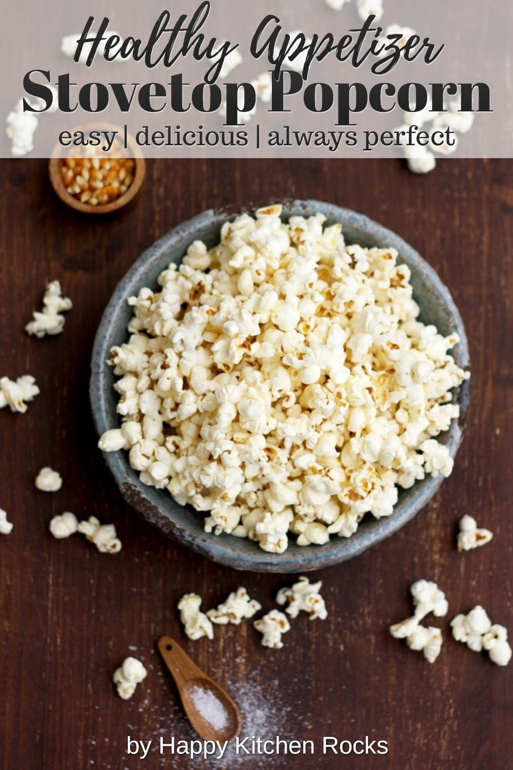 Always Perfect Stovetop Popcorn Collage with Text Overlay