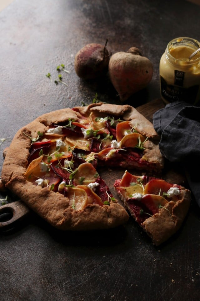 Beet Galette with Goat Cheese Negative Space
