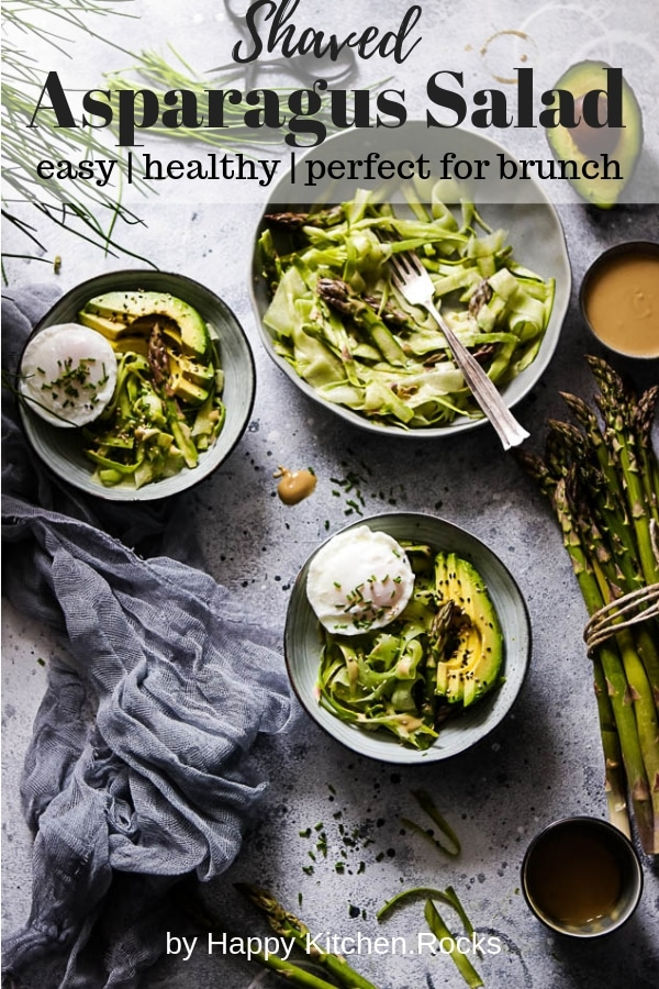 Shaved Asparagus Salad Pinterest Image with Text Overlay