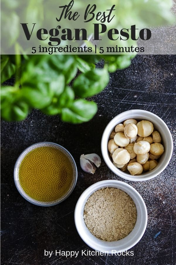 Vegan Pesto Ingredients Pinterest