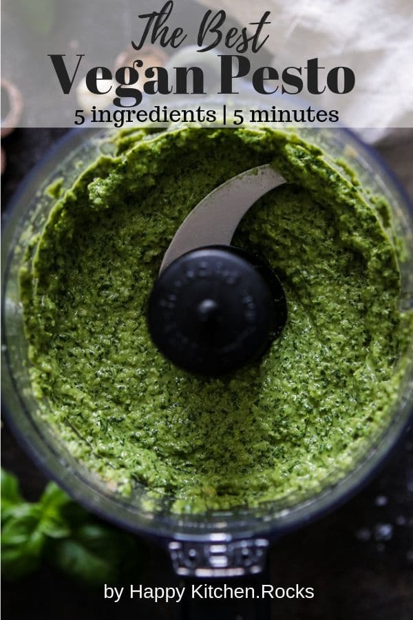 Vegan Pesto in a Blender Pinterest