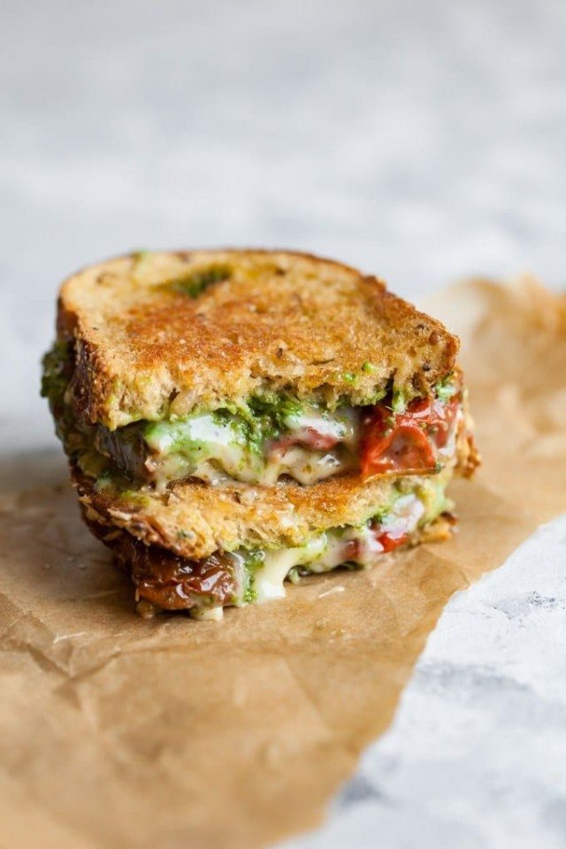 Vegan Pesto Grilled Cheese Sandwich
