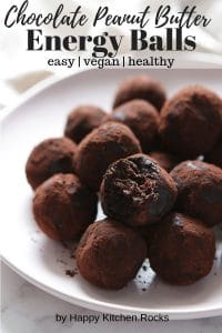 Peanut Butter Chocolate Energy Balls Pinterest Image