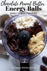 Vegan Energy Balls in a Blender Pinterest Collage