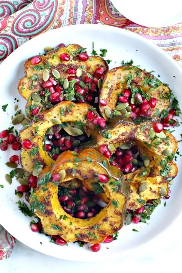 Roasted Acorn Squash Slices with Garam Masala