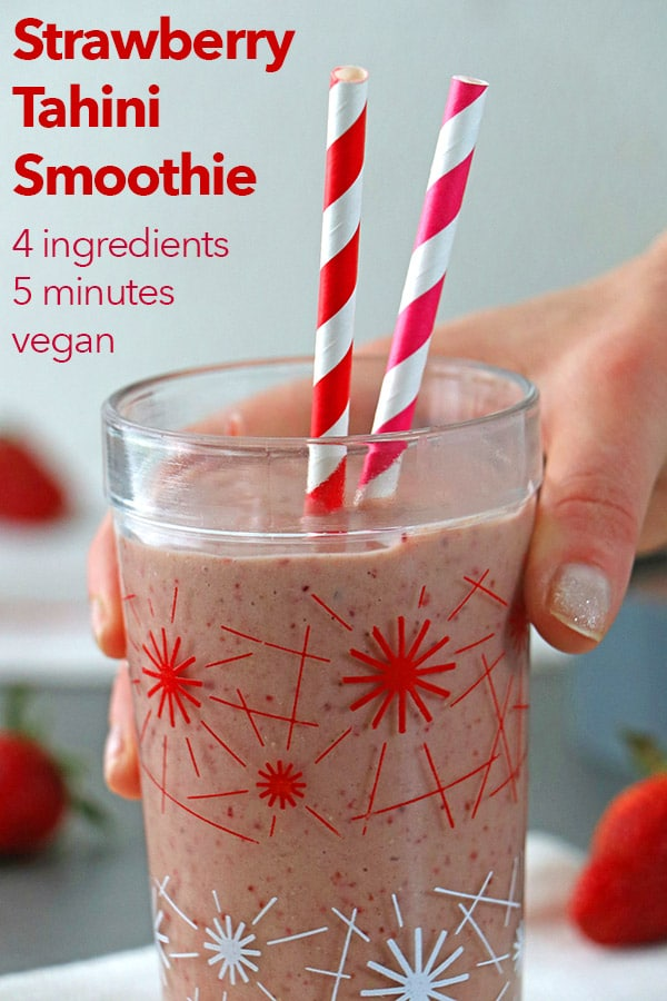 Strawberry Tahini Smoothie