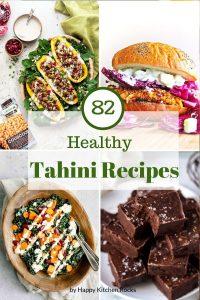 Tahini Recipes Pinterest Collage