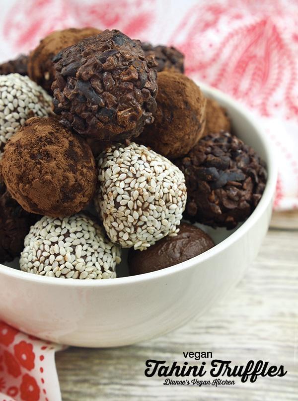 Vegan Tahini Truffles