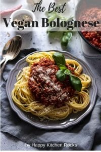 Vegan Tempeh Bolognese Pinterest