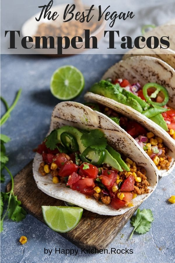Vegan Tempeh Tacos Pinterest Collage
