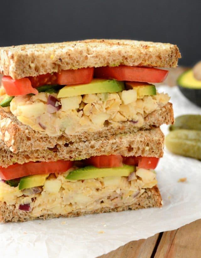 Apple-Walnut Chickpea Salad Sandwich