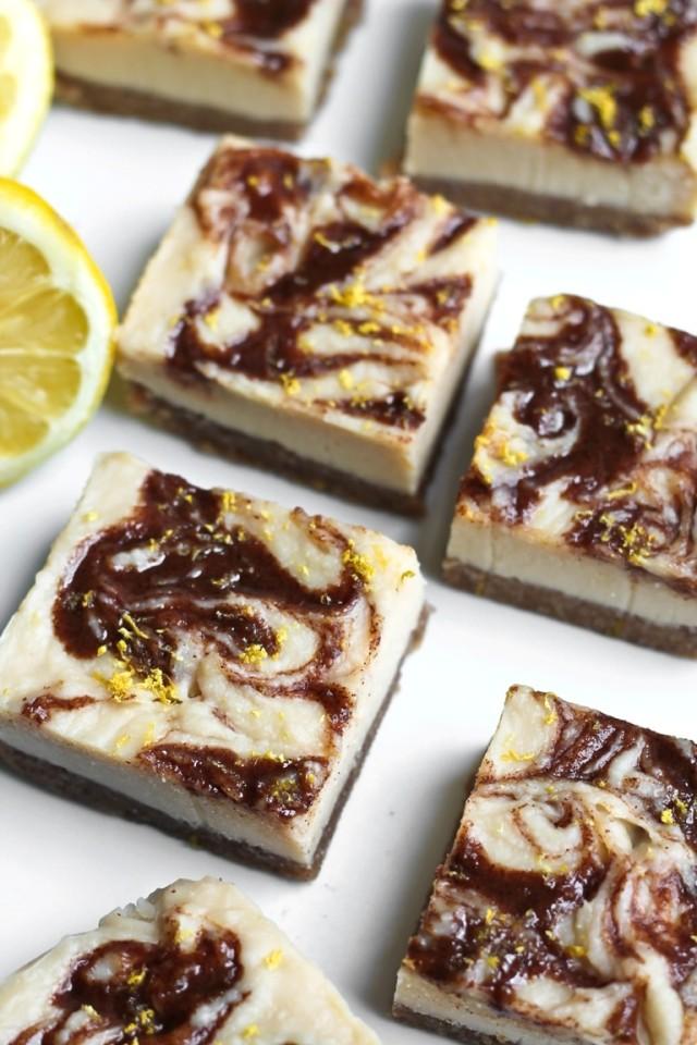 Vegan Lemon Bars with Spiced Tahini Caramel