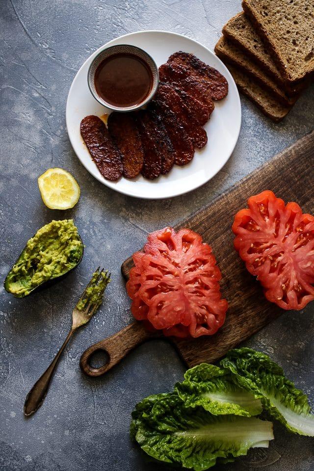 Vegan BLT Sandwich Ingredients