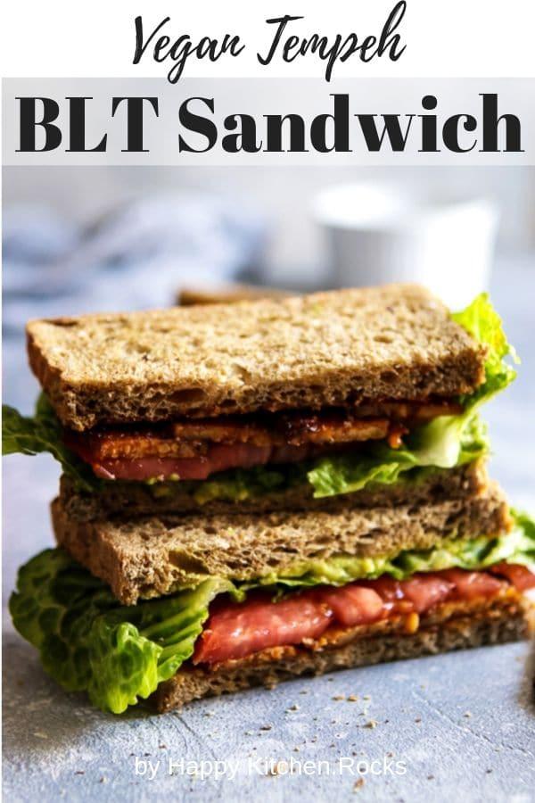Vegan BLT Sandwich Pinterest
