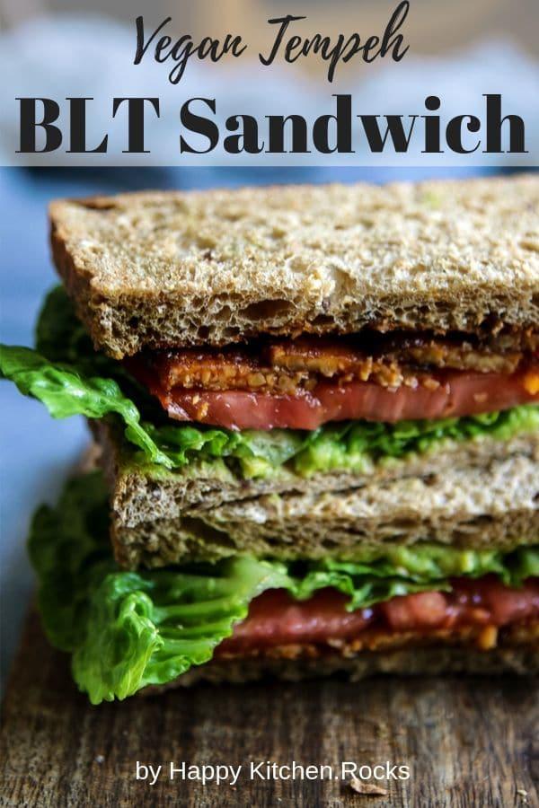 Vegan Tempeh BLT Sandwich Pinterest