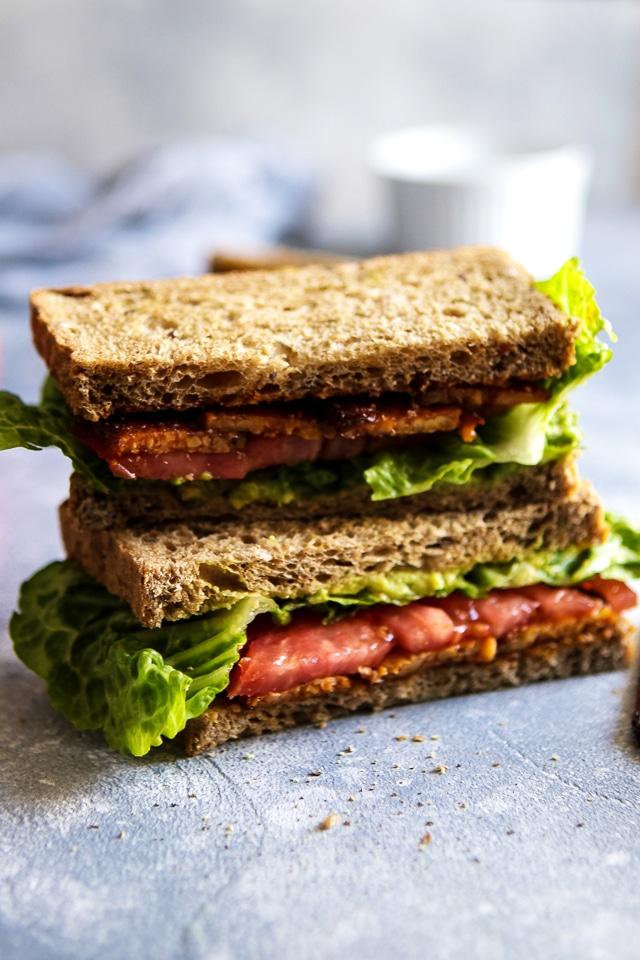 Vegan Tempeh BLT Sandwich