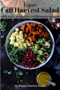 Ingredients for Vegan Fall Harvest Salad Pinterest