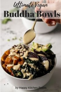 Buddha Bowl with Tahini Sauce Pinterest Collage